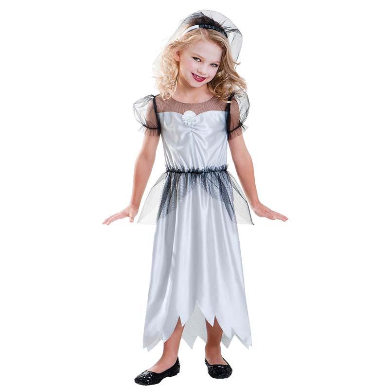 Disfraz novia zombie nia T 35 aos