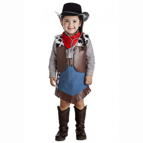 52eec21077 Disfraz infantil vaquera 5-6 años
