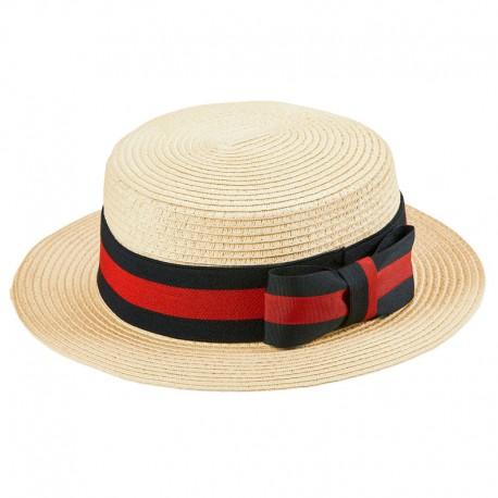 sombrero canotier paja d36f3f63d2b