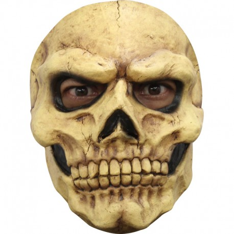 CARETA CALAVERA SKULL TAN FACE MASK