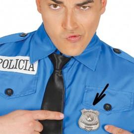 PLACA POLICIA METALICA ESTRELLA