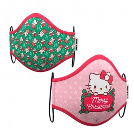 MASCARILLA HELLO KITTY XMAS ADULTO 2UD